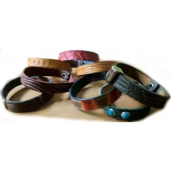 Leather bracelet 1 cm wide