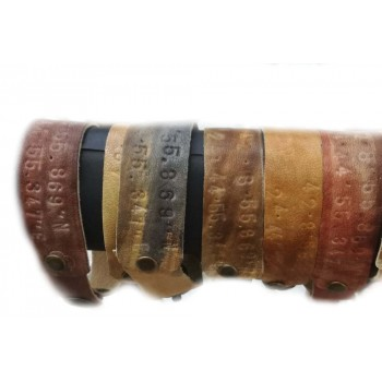Leather bracelet with GPS or text stamp