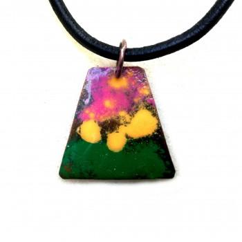 Колие Емайл върху метал Пролетно цветно