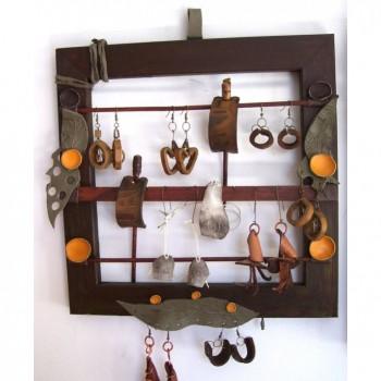 Jewelry display single 35/35 brown
